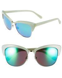 Kate Spade - 'genette' 56mm Cat Eye Sunglasses - - Lyst