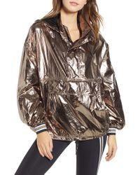 Ivy Park - Metallic Half Zip Pullover - Lyst
