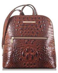 Brahmin - Felicity Croc Embossed Leather Backpack - Lyst