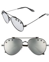 Givenchy - Stars 58mm Aviator Sunglasses - Lyst