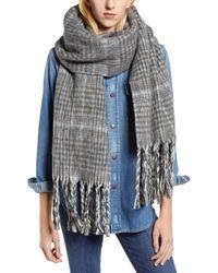 AllSaints - Plaid Brushed Wool Blanket Scarf - Lyst