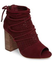 Very Volatile - Kalio Perforated Open Toe Bootie - Lyst
