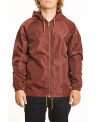 Brixton - Claxton Water Repellent Hooded Windbreaker - Lyst