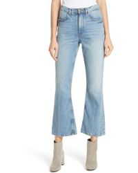The Great - Western Crop Bootcut Jeans - Lyst
