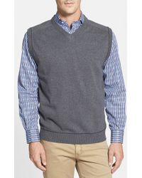 Cutter & Buck - Broadview V-neck Sweater Vest - Lyst