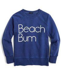 J.Crew - Beach Bum Sweatshirt - Lyst