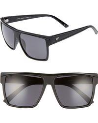 Le Specs - Dirty Magic 56mm Rectangle Sunglasses - - Lyst