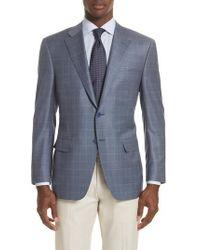 Canali | Classic Fit Windowpane Wool Sport Coat | Lyst
