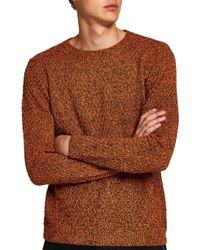 TOPMAN - Textured Crewneck Sweater - Lyst