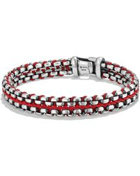 David Yurman - 'chain' Woven Box Chain Bracelet - Lyst