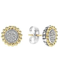Lagos - Diamond Caviar Stud Earrings - Lyst