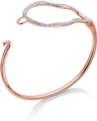 Monica Vinader - Riva Diamond Hook Bracelet - Lyst
