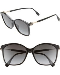 a9023605947d1 Lyst - Prada Special Fit Swirl Sunglasses in Gray