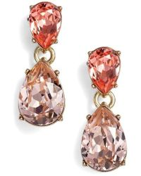 Givenchy - Double Pear Crystal Earrings - Lyst
