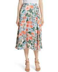 Alice + Olivia - Nanette Floral Faux Wrap Skirt - Lyst