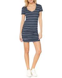 Michael Stars - Kali Striped T-shirt Dress - Lyst