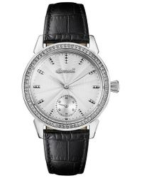 INGERSOLL WATCHES - Ingersoll Crystal Accent Leather Strap Watch - Lyst