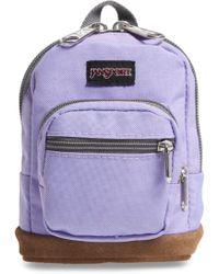 Jansport - Right Pouch Mini Bag - Purple - Lyst
