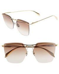 Alexander McQueen - 59mm Gradient Lens Rimless Sunglasses - Lyst