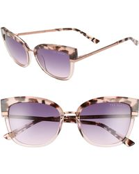 c8090e8acc97 Ted Baker - 53mm Square Sunglasses - Blush Tortoise  Purple - Lyst