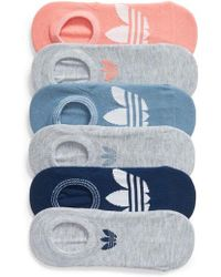 adidas - 6-pack Trefoil Superlite No-show Socks, Coral - Lyst