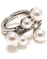 Oscar de la Renta - Imitation Pearl Cluster Ring - Lyst