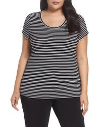 Sejour - Stretch Scoop Neck Tee - Lyst