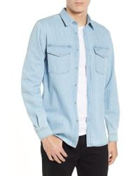 Lacoste - Blue Pack Regular Fit Chambray Shirt - Lyst