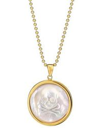 Asha - Skull Long Mother-of-pearl Pendant Necklace - Lyst
