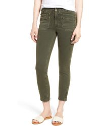 PAIGE - Hoxton High Waist Ankle Skinny Jeans - Lyst