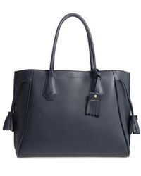 Longchamp - 'penelope' Tassel Drawstring Leather Tote - Lyst