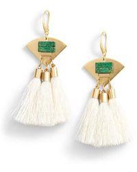 David Aubrey - 3-tassel Earrings - Lyst
