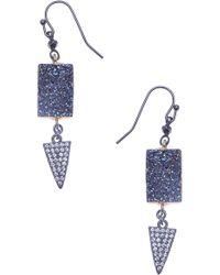 Nakamol - Drusy Drop Earrings - Lyst