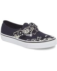 Vans - Ua Authentic Knotted Floral Bandana Slip-on Sneaker - Lyst