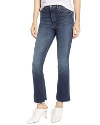 Mother - The Hustler Fray Ankle Bootcut Jeans - Lyst