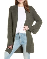 Hinge - Tipped Bell Sleeve Cardigan - Lyst