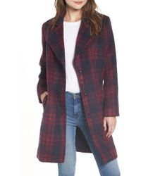 Cupcakes And Cashmere - Brushed Plaid Coat - Lyst