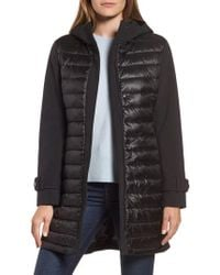 Gallery - Hooded Soft Shell Puffer Hybrid Coat - Lyst