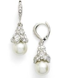 Givenchy - Imitation Pearl Drop Earrings - Lyst