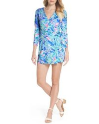 Lilly Pulitzer - Lilly Pulitzer Karlie Wrap Romper - Lyst