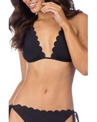 La Blanca | Petal Pusher Solid Ruffle Triangle Bikini Top | Lyst