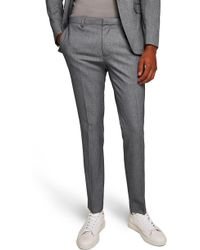 TOPMAN - Ultra Skinny Fit Houndstooth Suit Trousers - Lyst