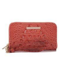 Brahmin - 'riley' Croc Embossed Leather Wristlet - Lyst