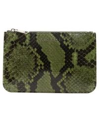 Orciani - Large Diamond Genuine Python Pouch - Lyst