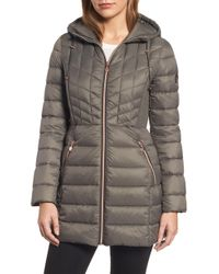 Bernardo - Hooded Packable Down & Primaloft Coat - Lyst