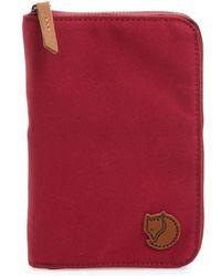Fjallraven - Canvas Passport Wallet - Purple - Lyst