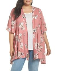 Love, Fire - Floral Print Kimono Jacket - Lyst