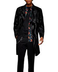 TOPMAN - Faux Ponyhair Overcoat - Lyst