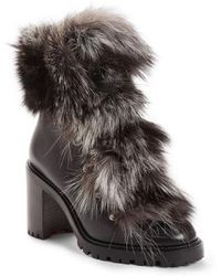 Christian Louboutin - Fanny Genuine Raccoon Fur Boot - Lyst