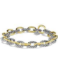 David Yurman 'oval' Link Bracelet With Gold